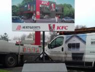 Projectbord KFC Barendrecht