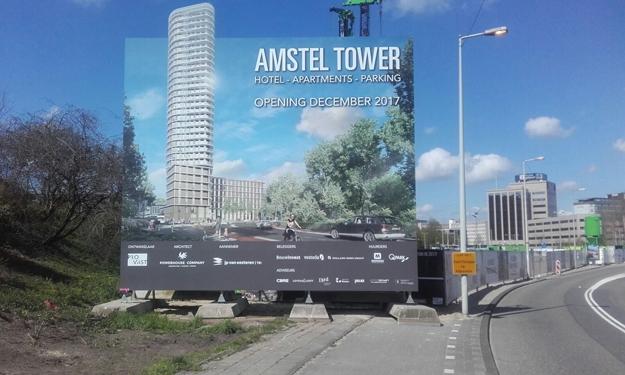 Projectbord Amstel Tower Amsterdam